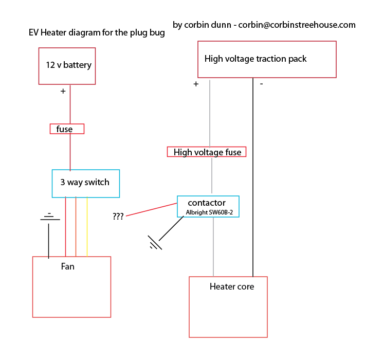 help with heater wiring 3 way switch to a contactor diy electric rh diyelectriccar com electric duct heater wiring diagram electric duct heater wiring diagram